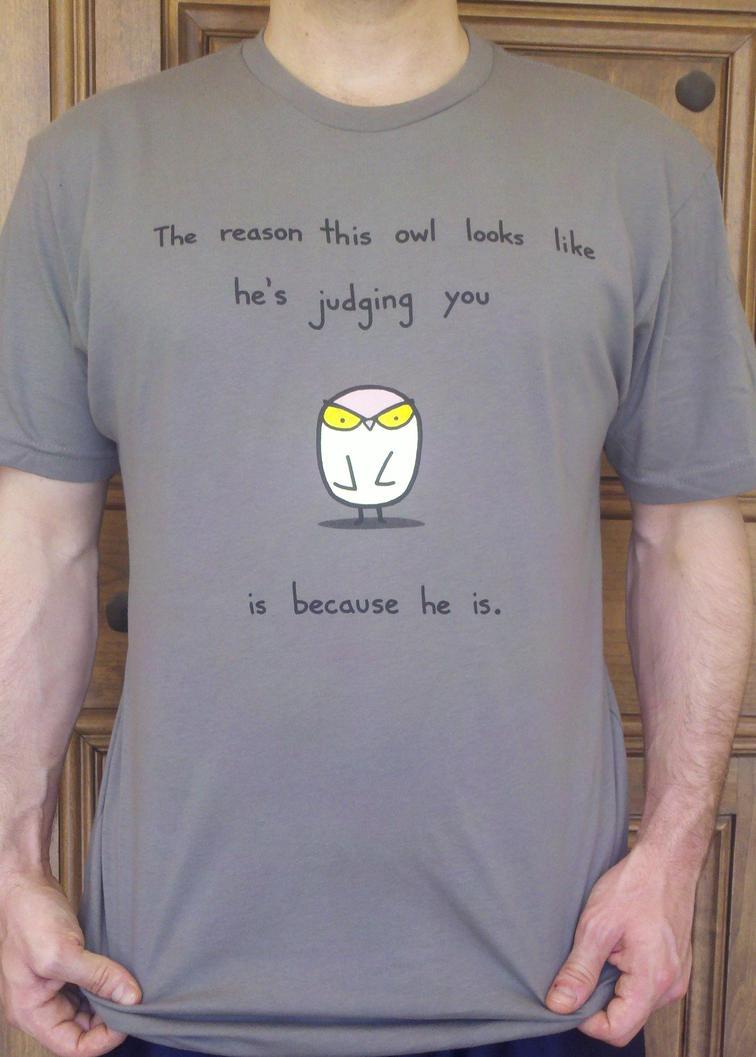 Judgy Owl Tshirt by sebreg