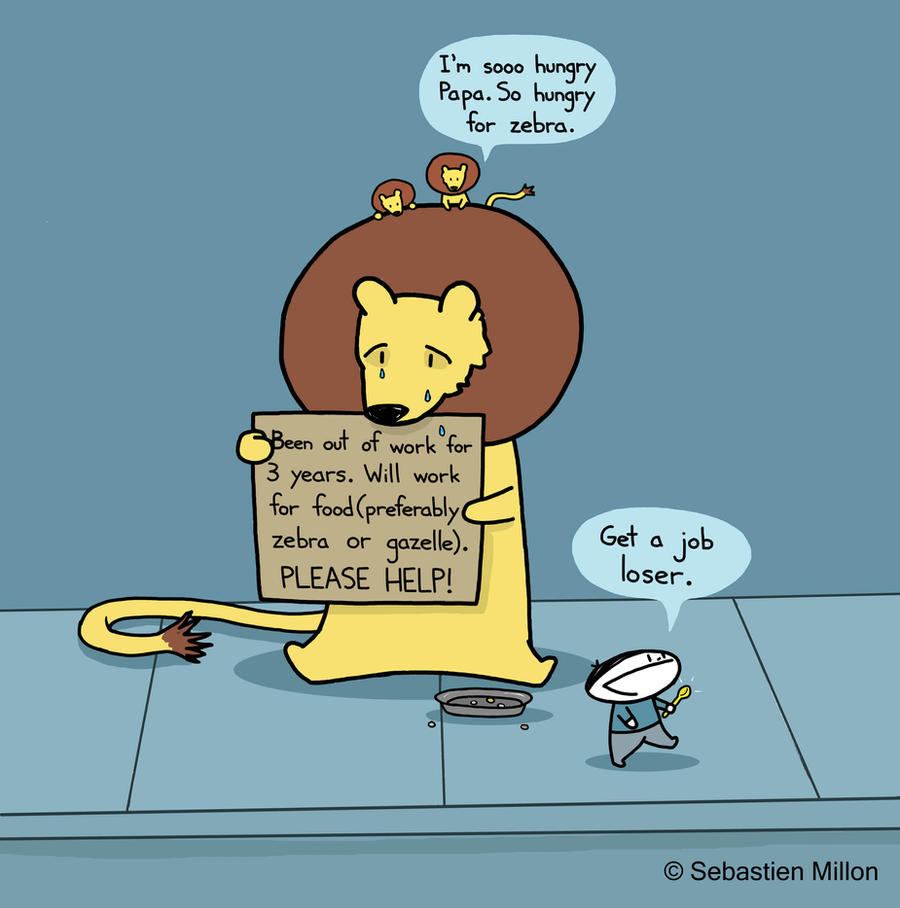 Unemployed Lion by sebreg