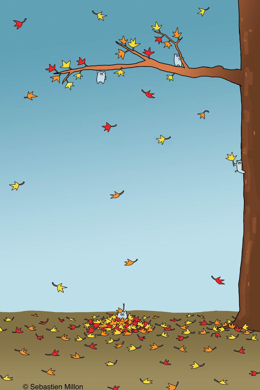 Baby Bears Love the Fall Season by sebreg