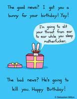 Happy Birthday Bunny by sebreg