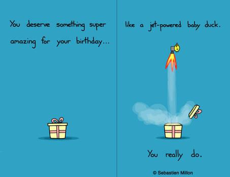 Jet-Powered Baby Duck Birthday