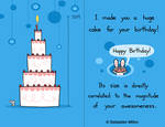 Huge Cake Birthday Card by sebreg