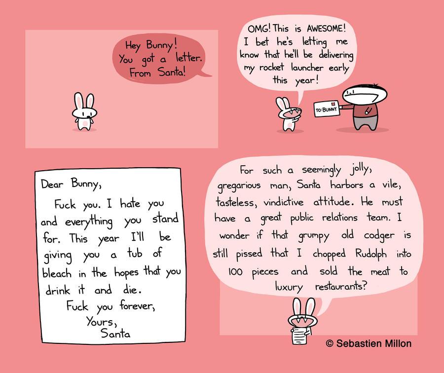 Santa's Letter To Bunny by sebreg