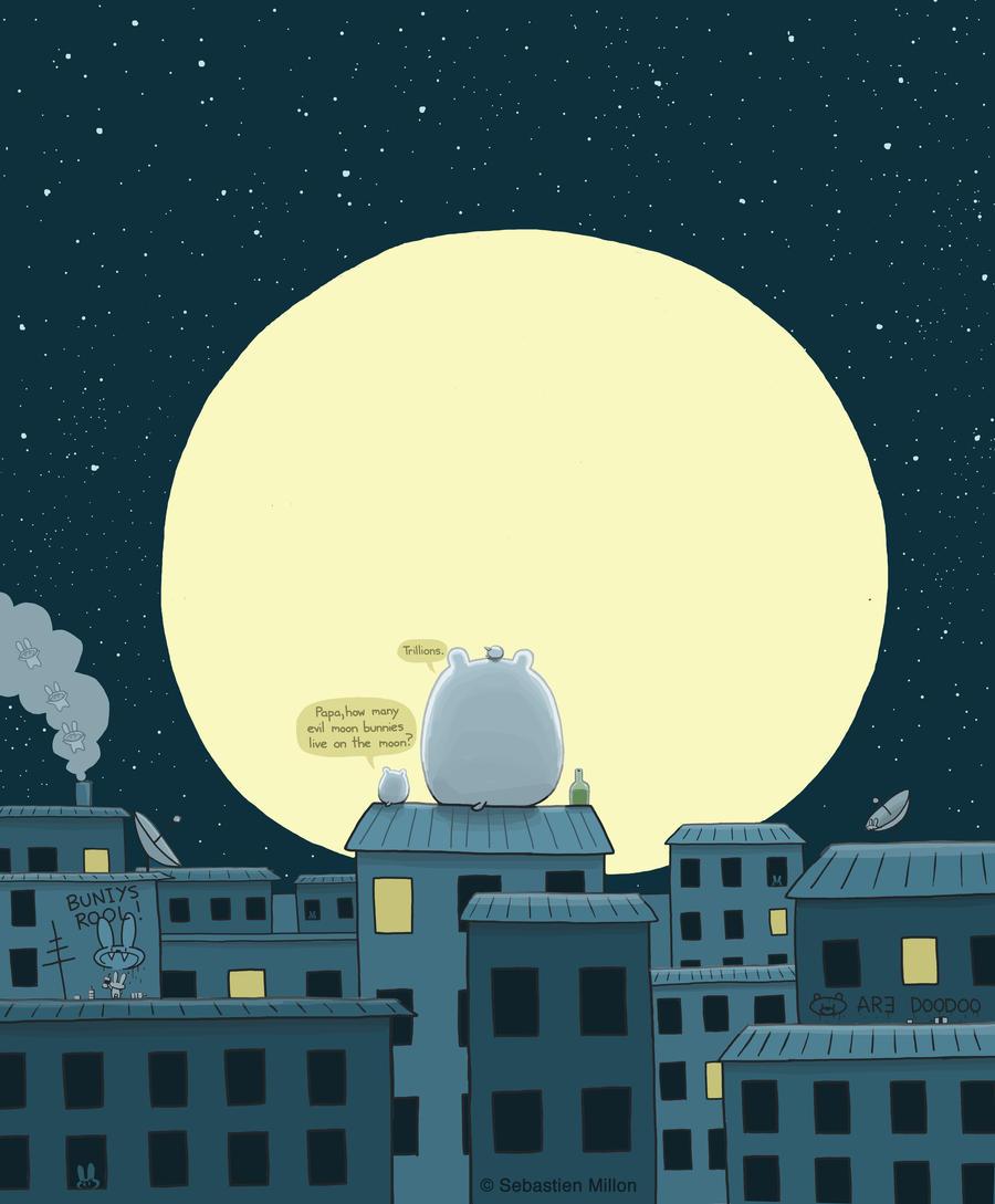 Moon Bunnies by sebreg