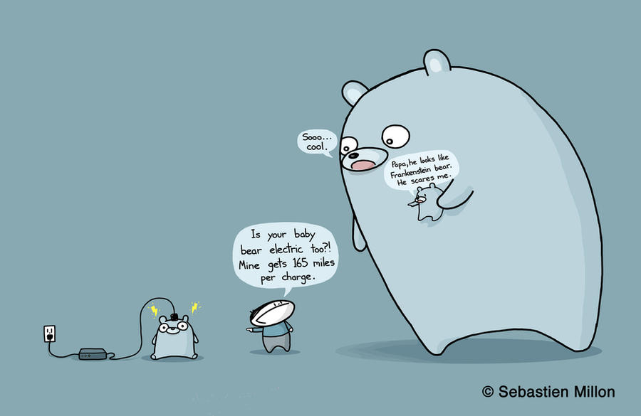Electric Baby Bears by sebreg