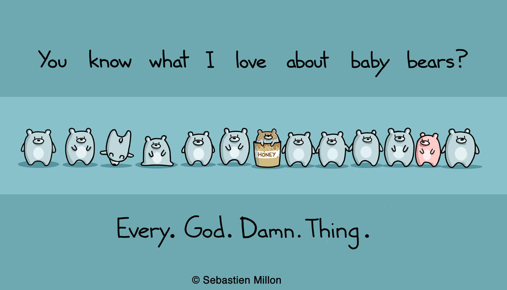 Baby Bears Are Cool by sebreg