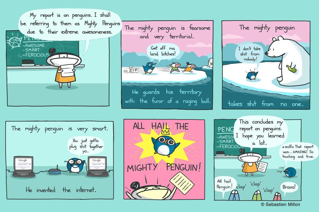 The Mighty Penguin by sebreg