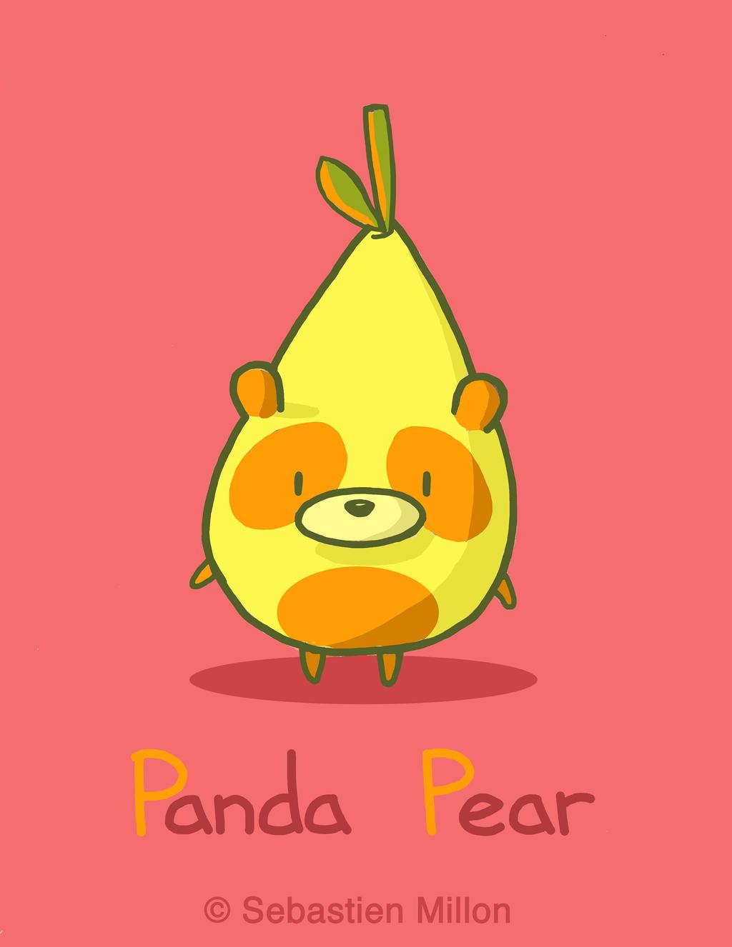 Panda Pear by sebreg