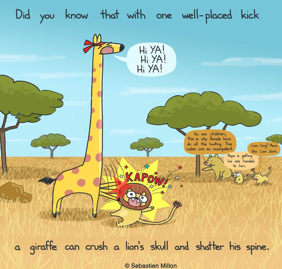 Giraffe Karate Chop by sebreg