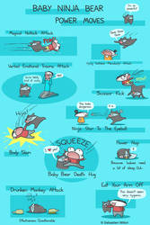 Baby Ninja Bear Power Moves by sebreg