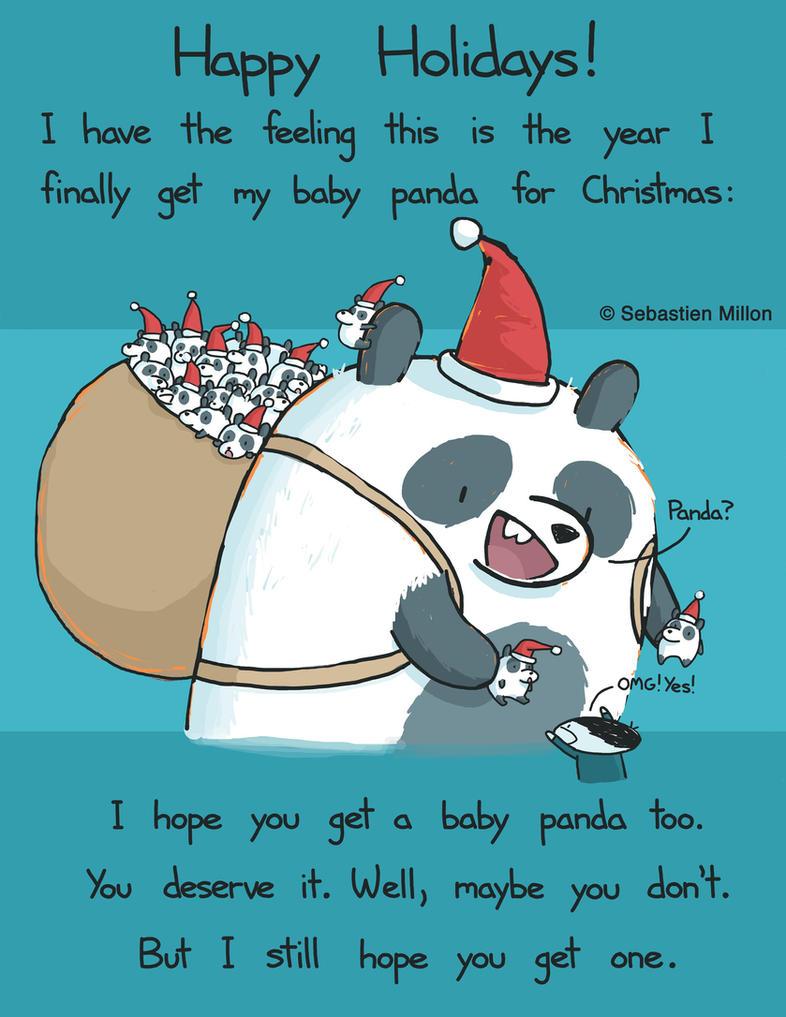 Happy Holidays Panda by sebreg