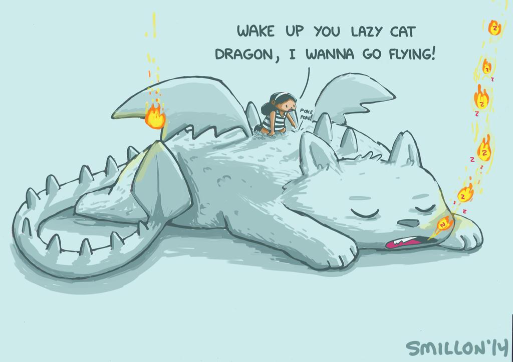 Lazy Cat Dragon by sebreg