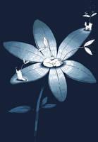Spirit Wolves On Flower by sebreg