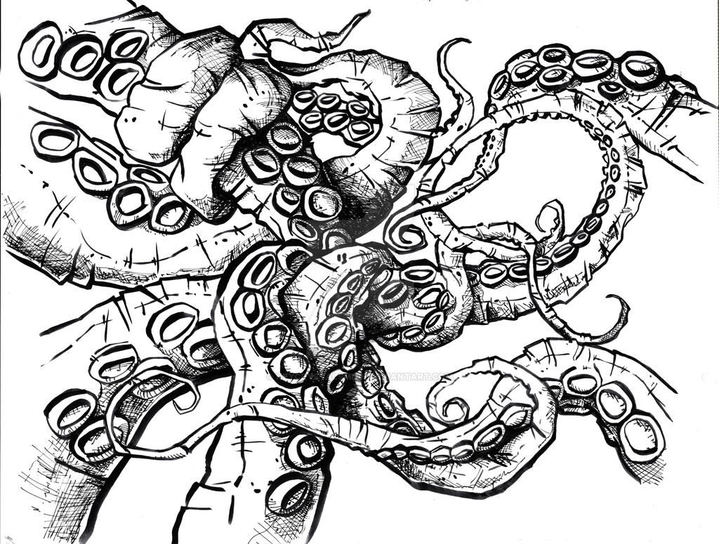tentacles ink octopus drawing comic by heycrystalsmith