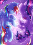 Rainbow Twilight [MLP Speedpaint] by Shad0w-Galaxy