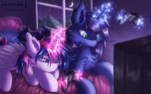 Gaming Night [MLP] by Shad0w-Galaxy