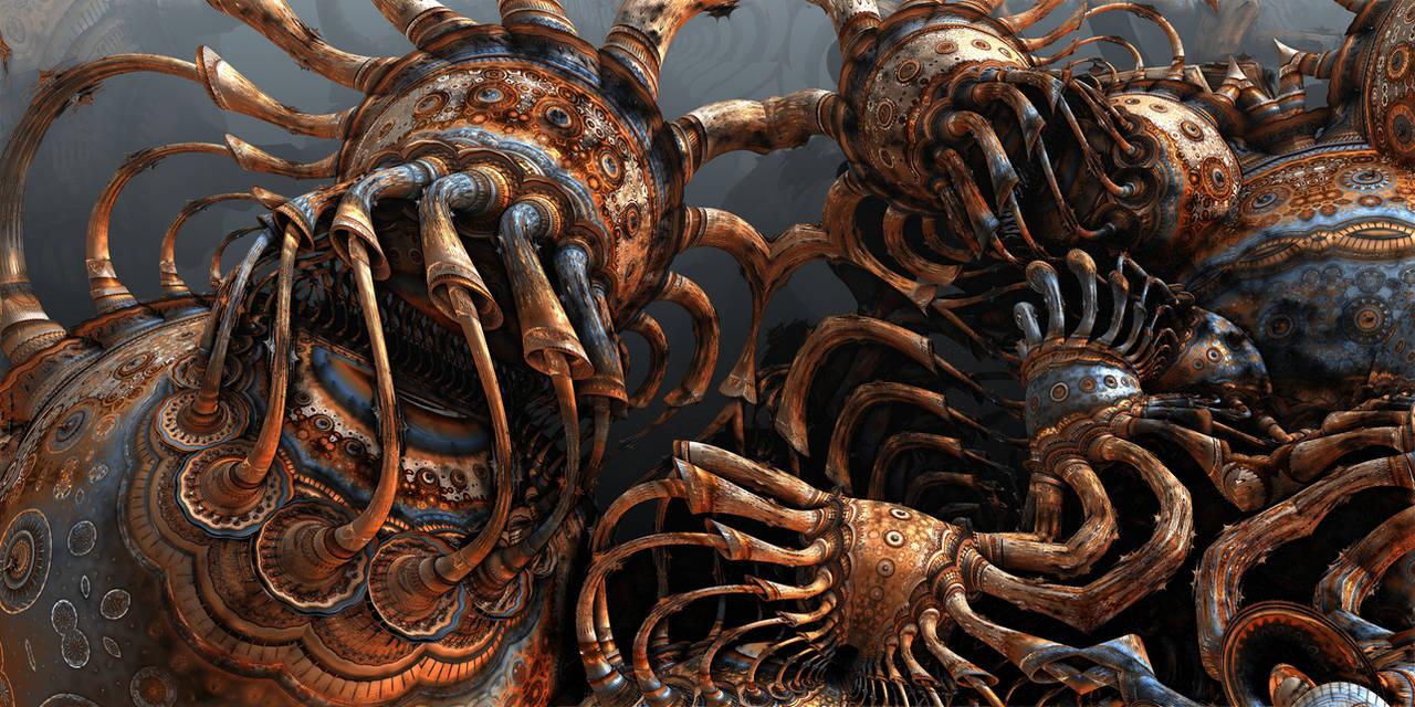 Octopi Garden by HalTenny
