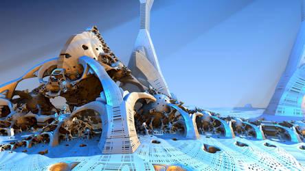 Lunar Arctic Biosphere by HalTenny