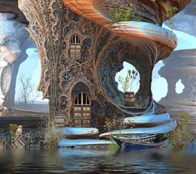 Fantasy Tree Cottage by HalTenny