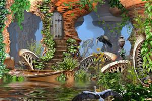 Giant Mushroom Forest by HalTenny