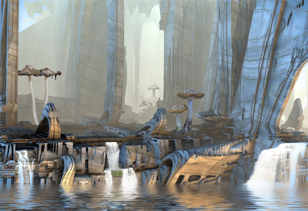Mushroom Caverns by HalTenny