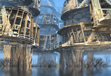 Abandoned Swamp Village by HalTenny
