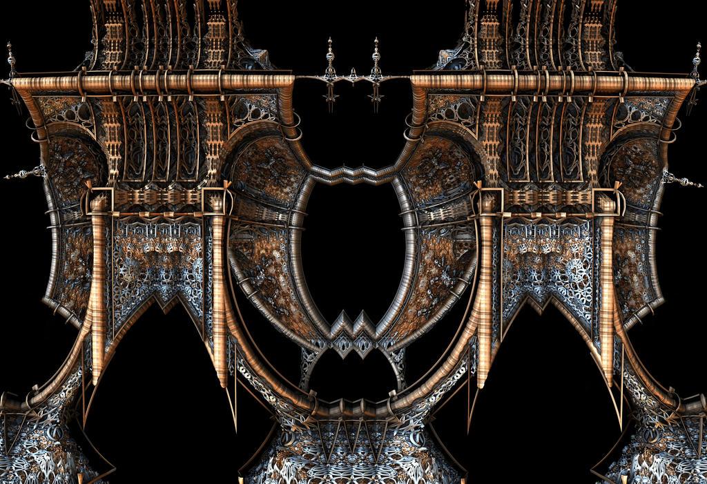 Gothic Steampunk Mirror Frame by HalTenny
