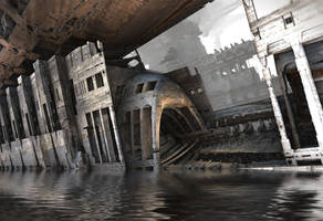 Flooded Subway by HalTenny