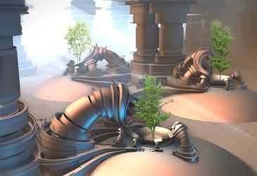 Alien Tree Incubators by HalTenny