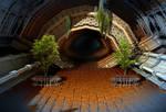 Inviting Dark Tunnel by HalTenny