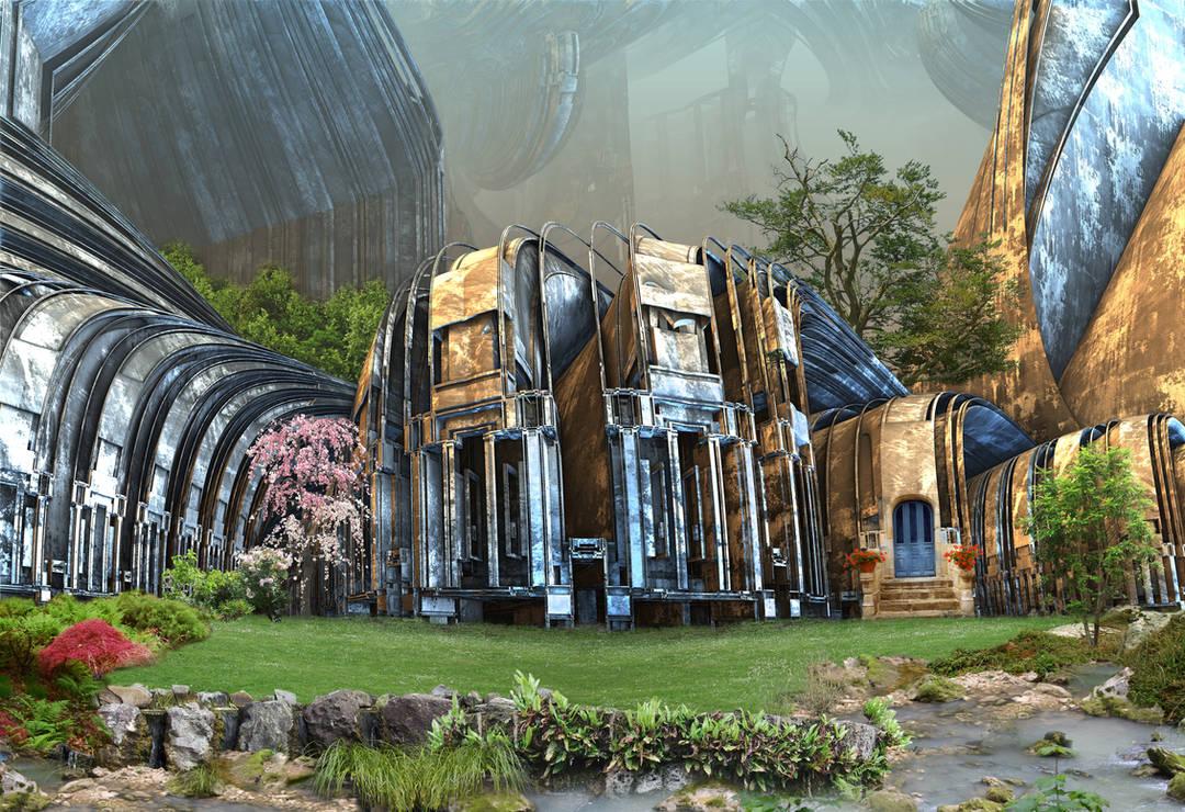 Futuristic Country Estate by HalTenny