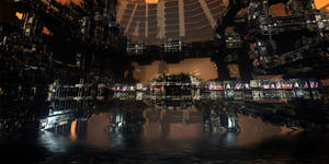 Deus Ex Cityscape by HalTenny