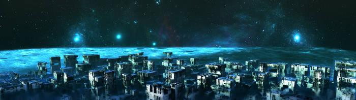 Far Side Lunar Base by HalTenny