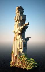 Minecraft render study by Djohaal
