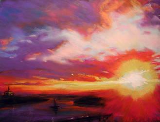 pastel sunset by mrmilo