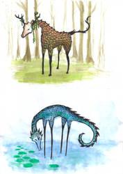 Strange creatures by Ukeukeuke