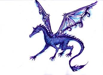 Indigo Dragon by Ukeukeuke