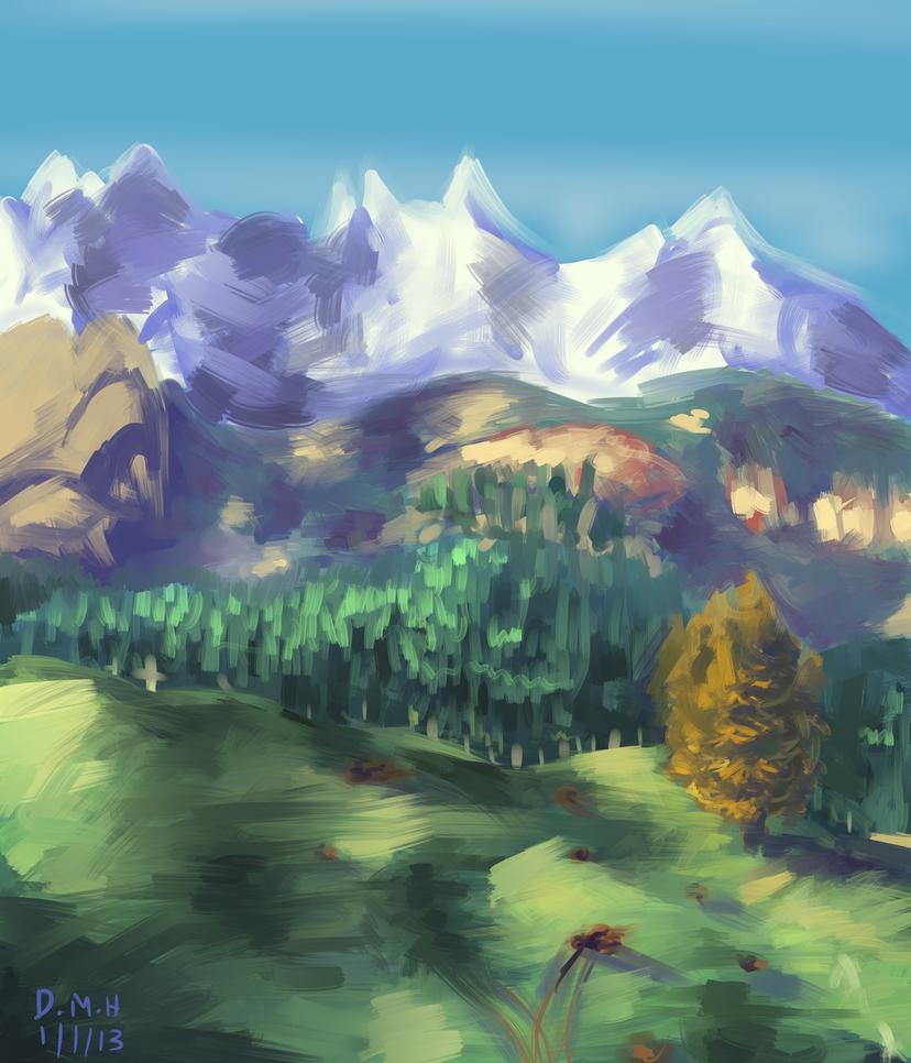 Landscape by LadyKuki