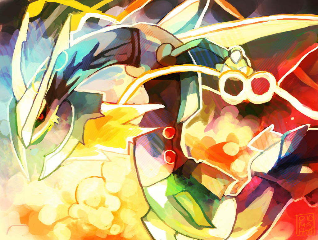 Mega Rayquaza by LadyKuki