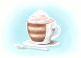 Coffee-(Cup!?)-Cake by DaydreamSugar