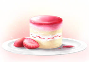 Strawberry Cake by DaydreamSugar