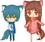ame and yuki by Frangasm