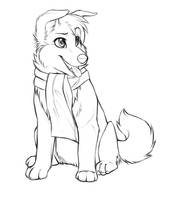 Free-to-use puppy lineart by Danni-Minoptra