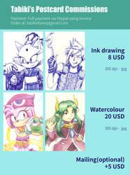 Tabiki's Postcard Commission Price