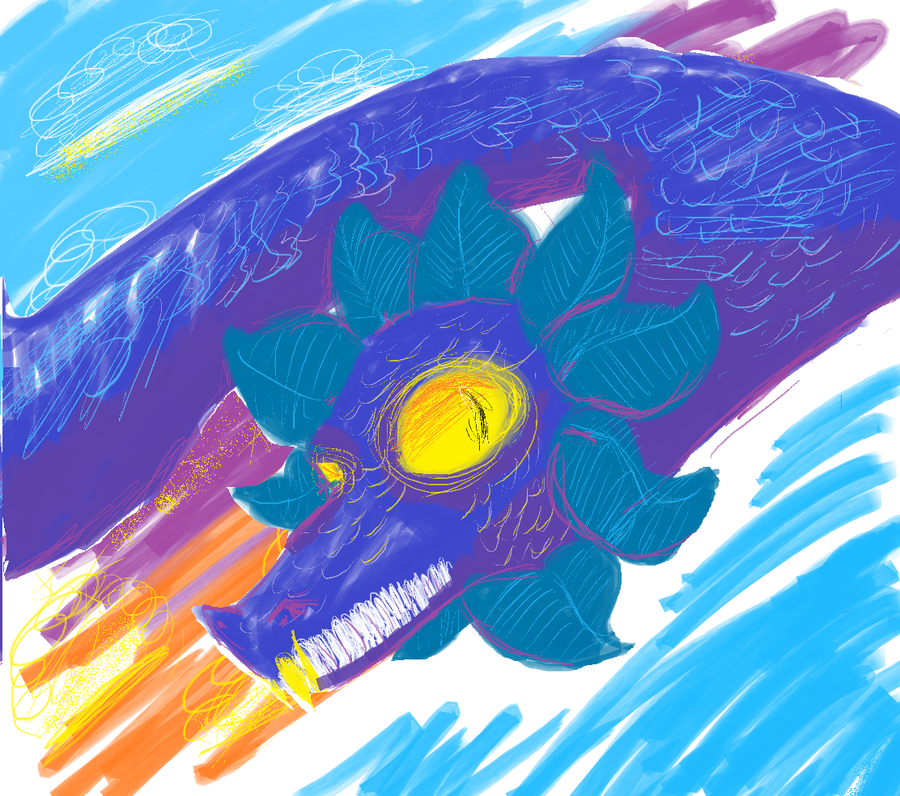 MS Paint dragon by Acrazyfriend