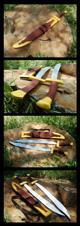 Blue Spirit Swords and Sheath by tearatoneBlue Spirit Swords