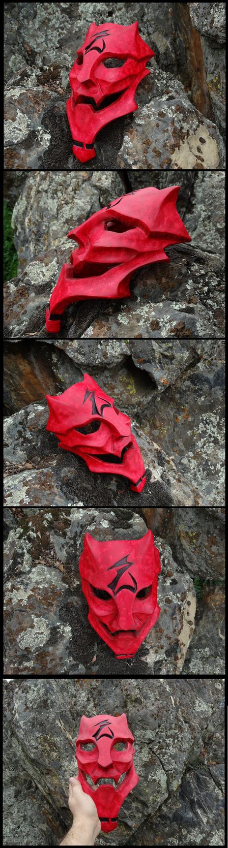 Ryoko's Oni Mask by tearatone