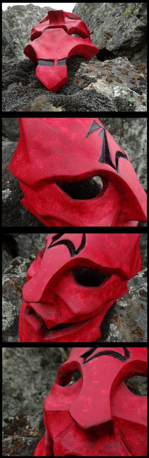 Ryoko's Oni Mask Details by tearatone