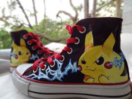 Pikachu Kicks by Krazmuth