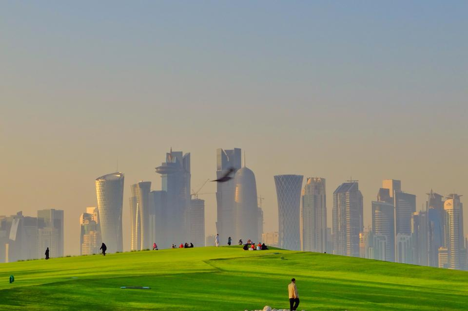 Doha skyline view from mia park by larduin on deviantart doha skyline view from mia park by larduin publicscrutiny Images